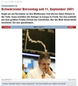 Ein Börsencrash kann so schön sein: das vermutlich einzige Börsen-Model der Welt. Foto: welt.de