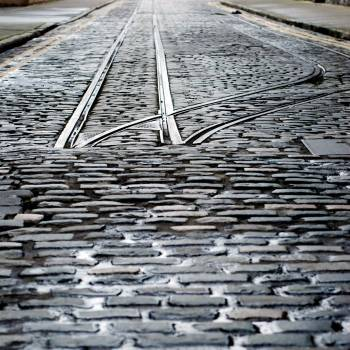 Endstation Dublin: abgeschnittene Schienen nahe der Guiness-Brauerei in Dublin.