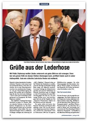 "Public Diplomacy: ""Grüße aus der Lederhose"""